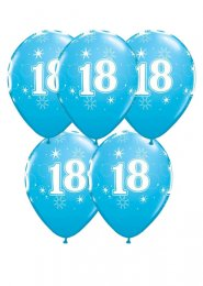 Blue 18th Birthday Party Balloons Pack 5