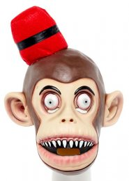 Adult Size Monkey In A Fez Mask