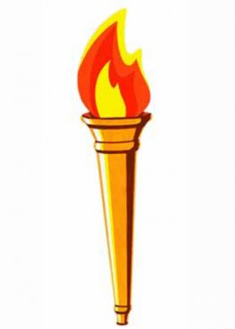 Athletics Flame Style Torch Cutout Decoration