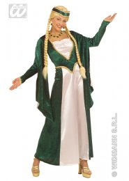 Plus Size Green Medieval Queen Costume