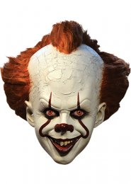 Deluxe Pennywise It The Clown Mask with Hair