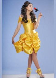 Womens Deluxe Belle Style Princess Costume