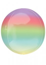 Inflated Rainbow Ombre Orbz Helium Balloon
