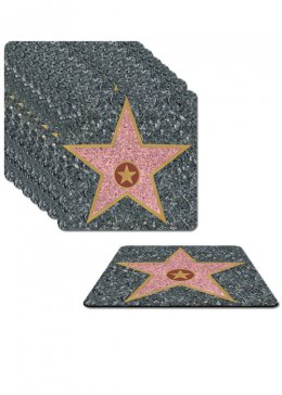 Hollywood Party Star Coasters Pack 8