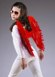 Kids Size Red Feather Angel Wings