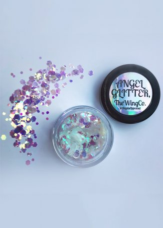 Clear White Iridescent UV Unicorn Tears Chunky Angel Glitter