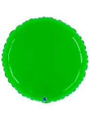 Inflated Large Neon Green Circle Helium Balloon