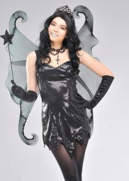 Black Gothic Glitter Fantasy Fairy Wings