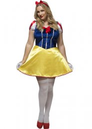 Womens Plus Size Snow White Style Costume