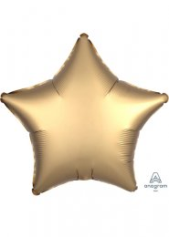 Inflated Gold Sateen Satin Luxe Star Helium Balloon
