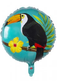 Inflated Tropical Toucan Hawaiian Party Helium Balloon