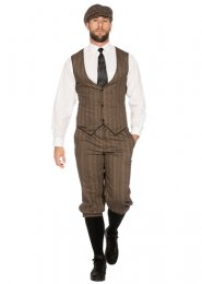 Mens Deluxe 1920s Peaky Blinders Style Costume Kit