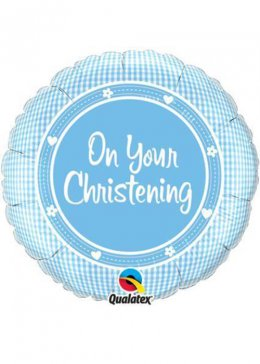 Blue On Your Christening Helium Balloon