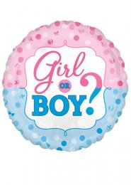 Inflated Girl or Boy Gender Reveal Helium Balloon