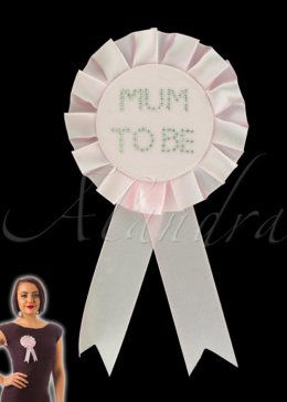 Baby Pink Mum To Be Rosette Badge