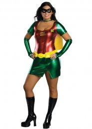 Womens Plus Size Sexy Robin Girl Costume