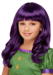 Kids Size Santoro Purple The Hour Girls Wig