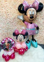 Childrens Pink Minnie Mouse Party Inflated Balloon Set