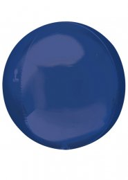 Inflated Navy Blue Orbz Sphere Helium Balloon