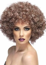 Natural Brown 70s Afro Wig