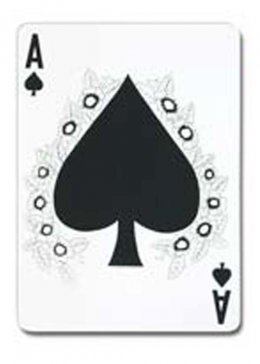 Jumbo Ace of Spades Playing Card Decoration