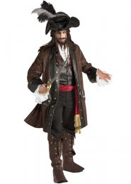 Jack Sparrow Style Deluxe Carribean Pirate Costume