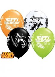 Star Wars Happy Birthday Party Balloons Pack 4