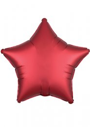 Red Sangria Satin Luxe Star Helium Party Balloon