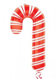 Inflated Christmas Large Striped Candy Cane Helium Balloon