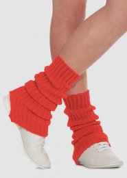 Red Stirrup Dance Leg Warmers 40cm