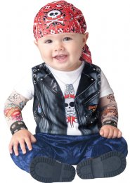 Toddler Size Baby Biker Born To be Wild Costume