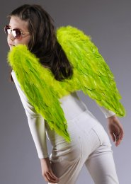 Kids Size Lime Green Feather Angel Wings
