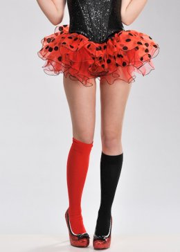 Womens Red Chiffon Polka Dot Tutu