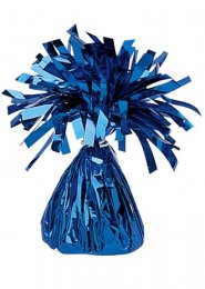 Bright Royal Blue Metallic Foil Helium Balloon Weight