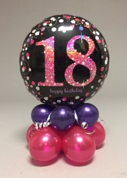 Black And Pink 18th Birthday Balloon Centrepiece