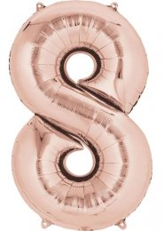 Rose Gold Number 8 Foil Balloon Minishape