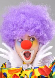 Circus Clown Purple Curly Pop Wig