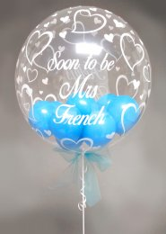 Personalised Hen Party Multi Balloon Filled Deco Bubble Balloon