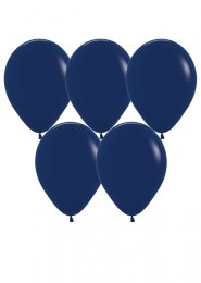 Dark Navy Blue Latex Party Balloons Pack 5