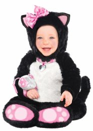 Baby Size Black and Pink Kitty Cat Costume