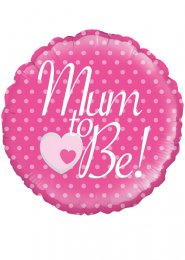 Inflated Pink Mum To Be Baby Shower Helium Balloon