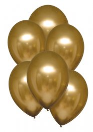 Satin Luxe Gold Latex Balloons Pack 6