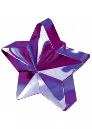 Purple Star Helium Balloon Weight