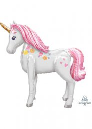 Inflated Pink Magical Unicorn Airwalker Balloon