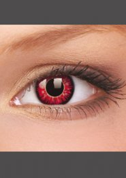 Halloween Red Vampire Crazy Eye Lenses 1 Year