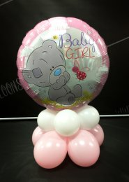 Pink Baby Girl Tatty Teddy Inflated Balloon Table Centrepiece