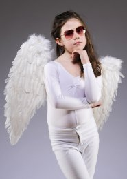 Kids Size White Feather Angel Wings