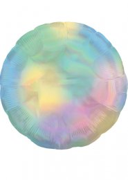 Inflated Iridescent Pastel Rainbow Helium Balloon