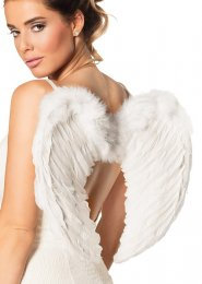 Heavenly Angel Small White Feather Wings