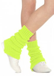 Flourescent Yellow Stirrup Dance Leg Warmers 60cm